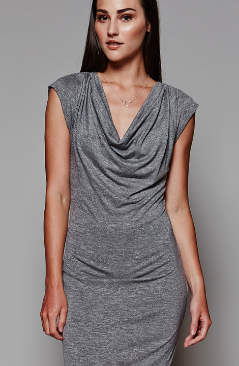 NY Dress, Grey, MARETHCOLLEEN, Draping