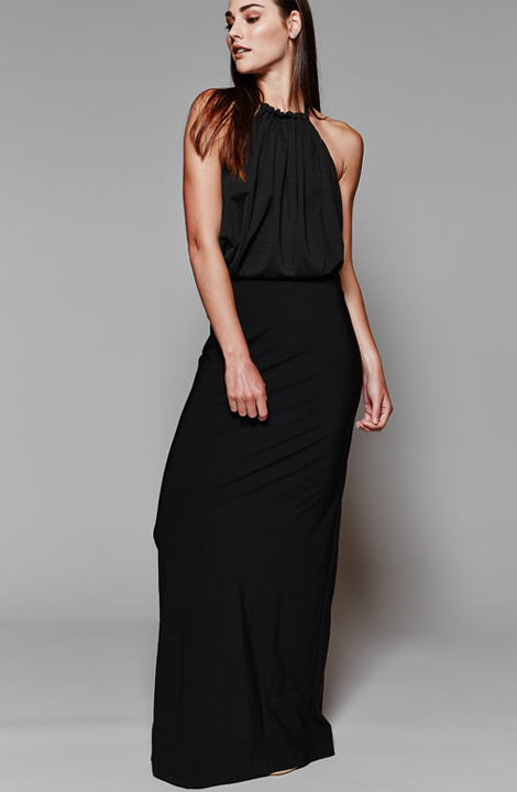 Black, Jen Dress, MARETHCOLLEEN, Evening Dress