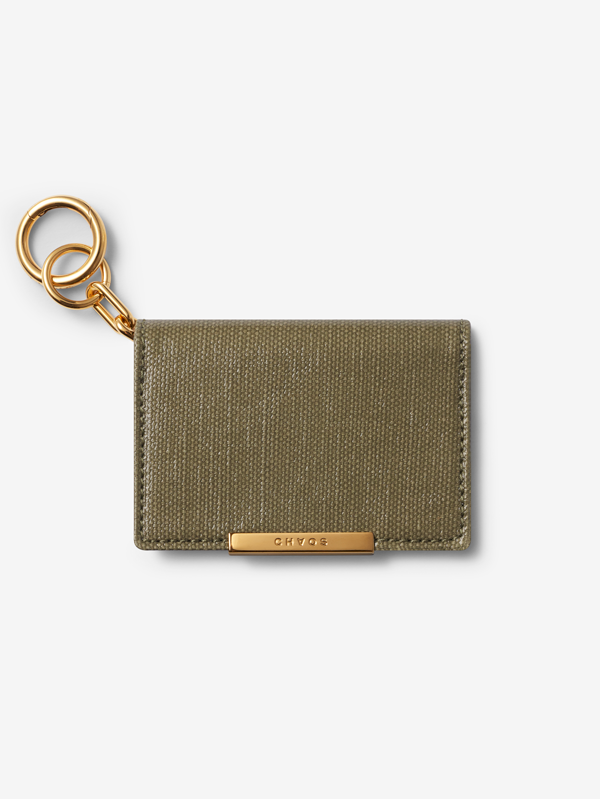 Green Canvas Card Holder