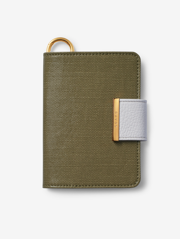 Green Canvas Passport Cover