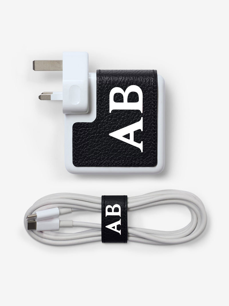 MacBook Charger Customised Leather Sticker and Cable Holder