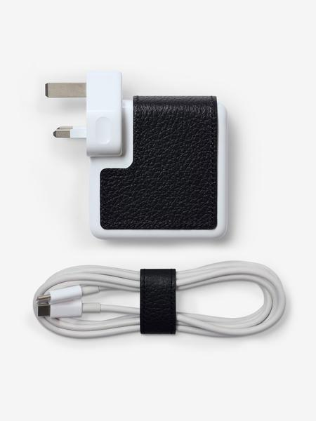 MacBook Charger Classic Leather Sticker and Cable Holder