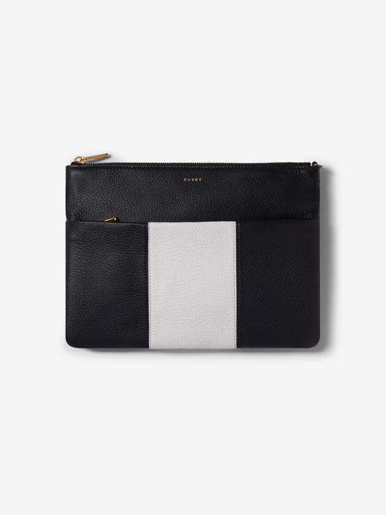 Black and White Clutch Bag