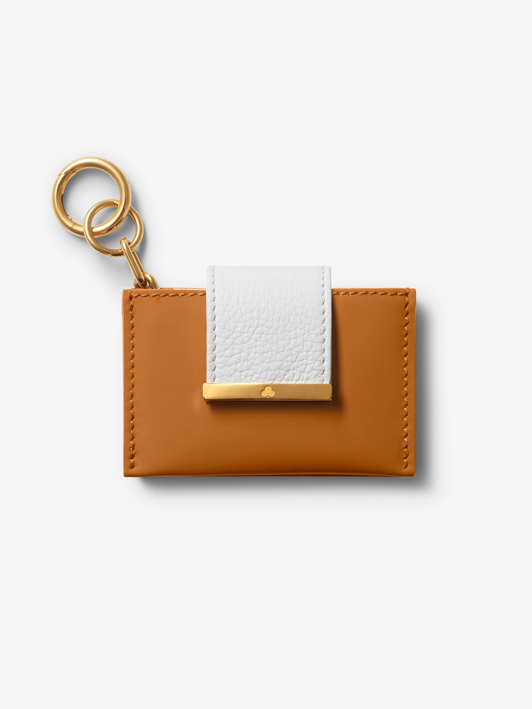 Caramel Patent Credit Card Holder