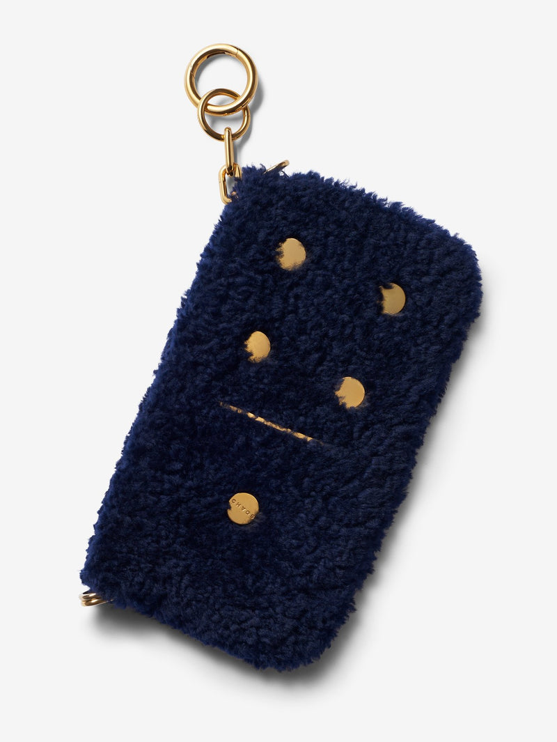 Domino Shearling Mini Purse