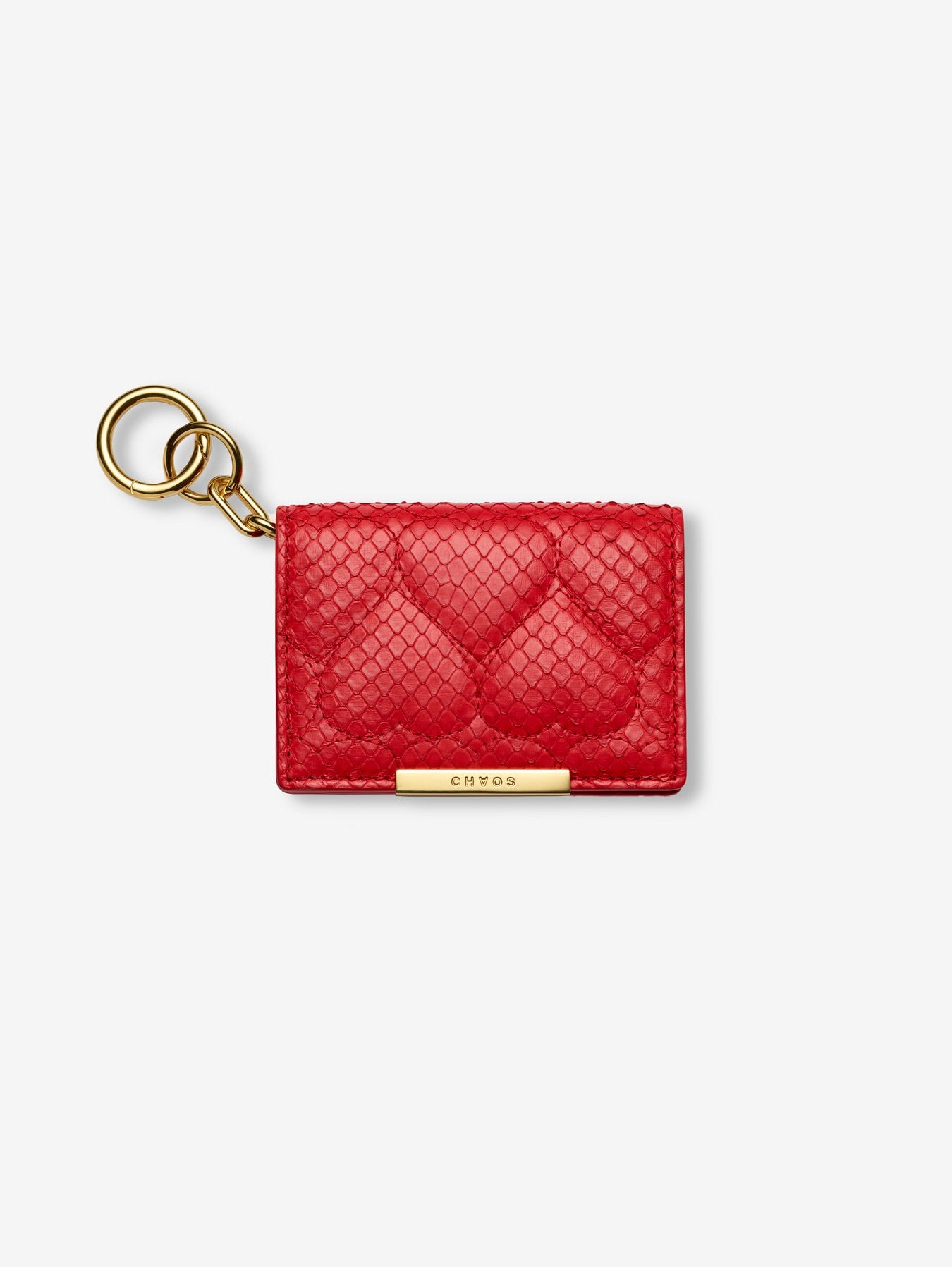 Quilted Heart Python Card Holder
