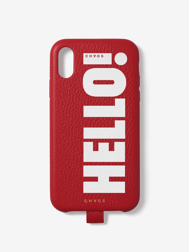 Chaos x Hello! Magazine HELLO Leather iPhone Case