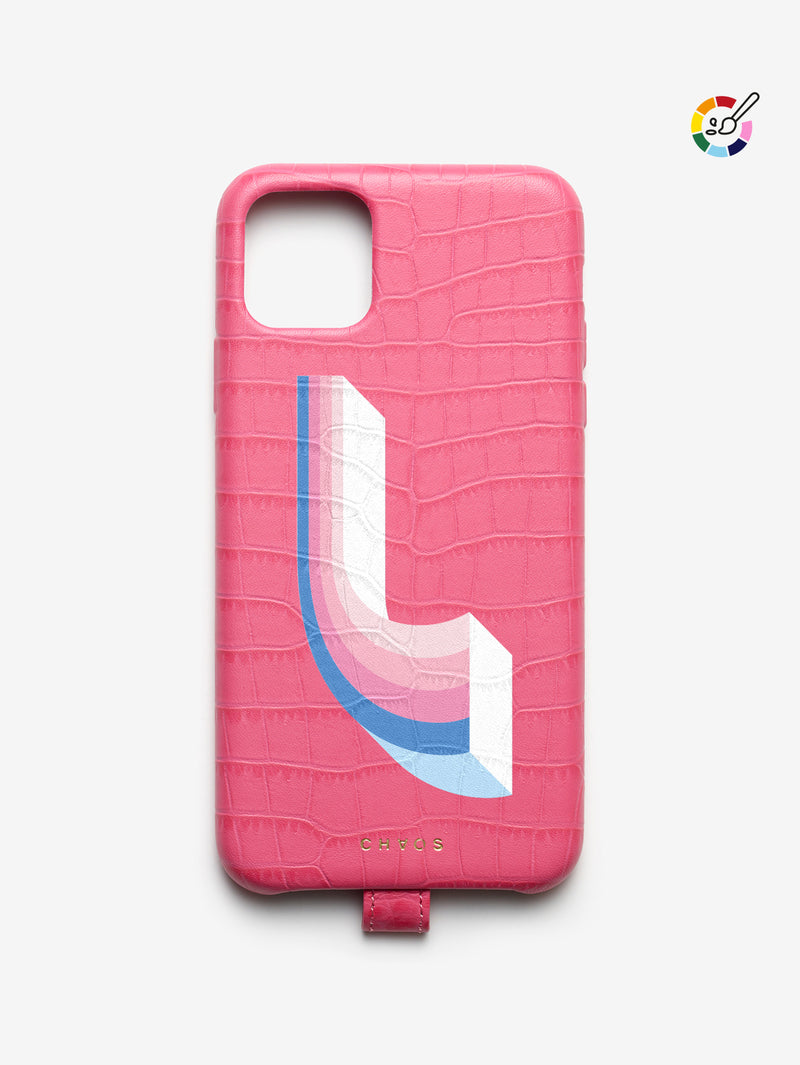 Custom Raspberry Faux Alligator iPhone Case