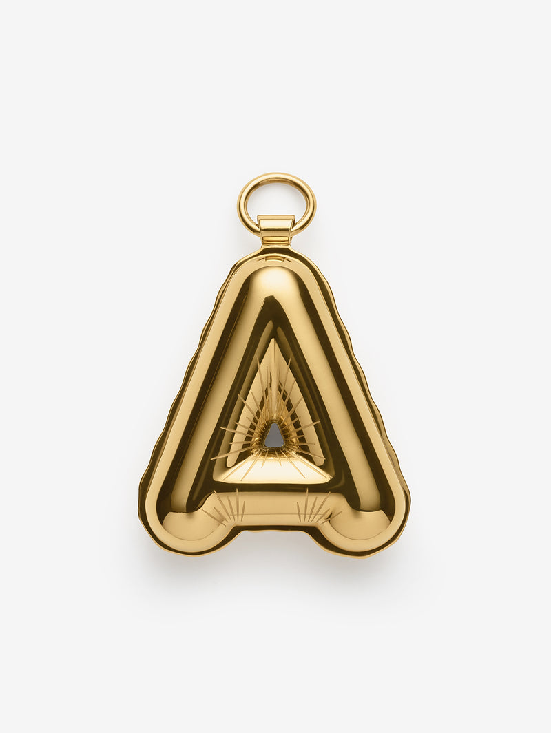 Alphabet Gold Balloon Charm