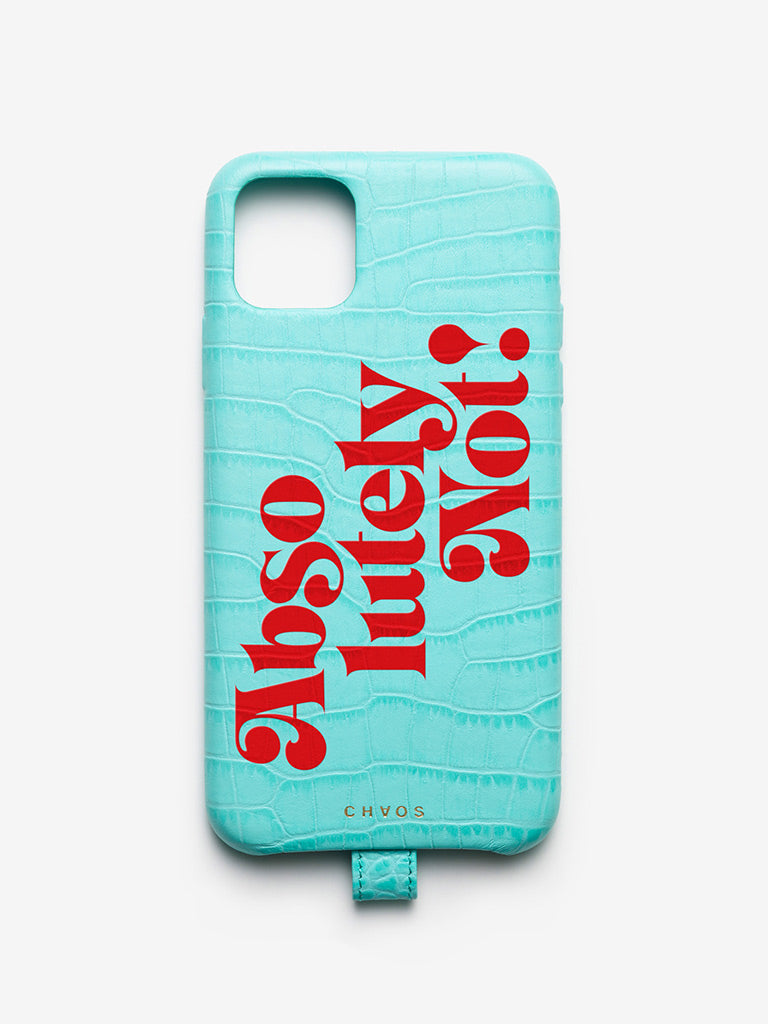 Absolutely Not #REALTALK iPhone Case