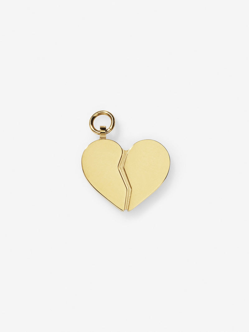 Gold Plated Broken Heart Charm