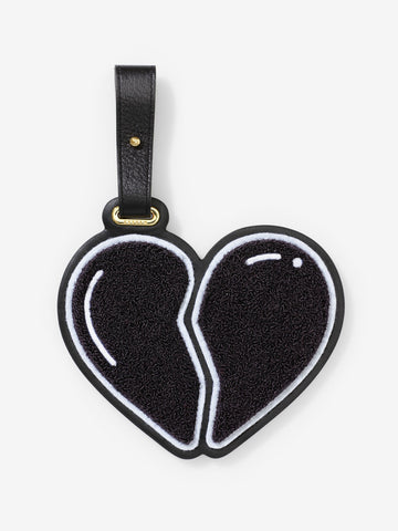 The Chaos Broken Heart Luggage Tag Black