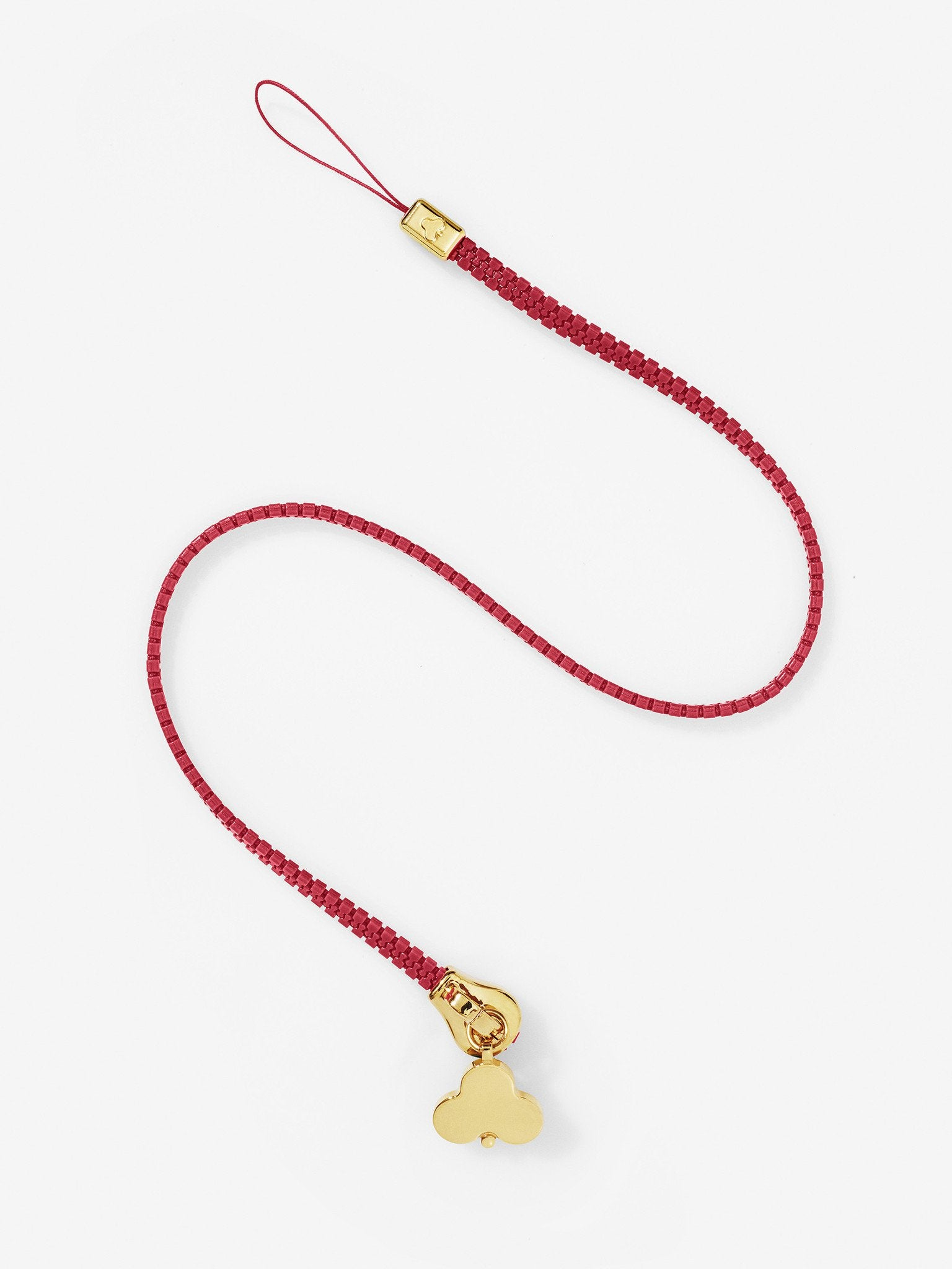 Zip Lanyard Red