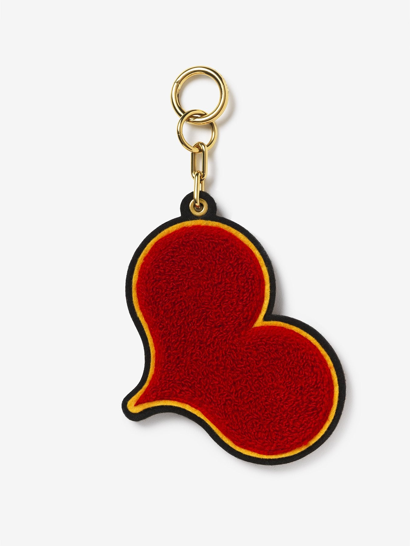 Chenille Red Heart Bag Charm