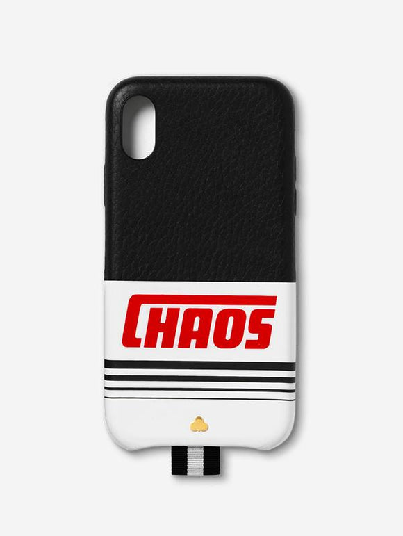 Leather iPhone Case Black & White