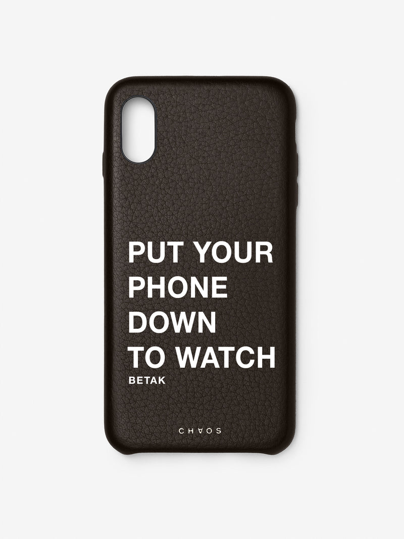 Chaos X Betak Collaboration iPhone Case Black