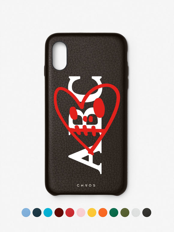 Chaos X Hayden Kays Custom Heart Classic Leather iPhone Case