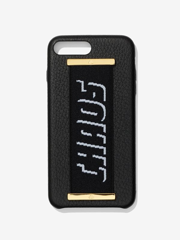 Elastic Hand Hug Case in Black With Black Strap