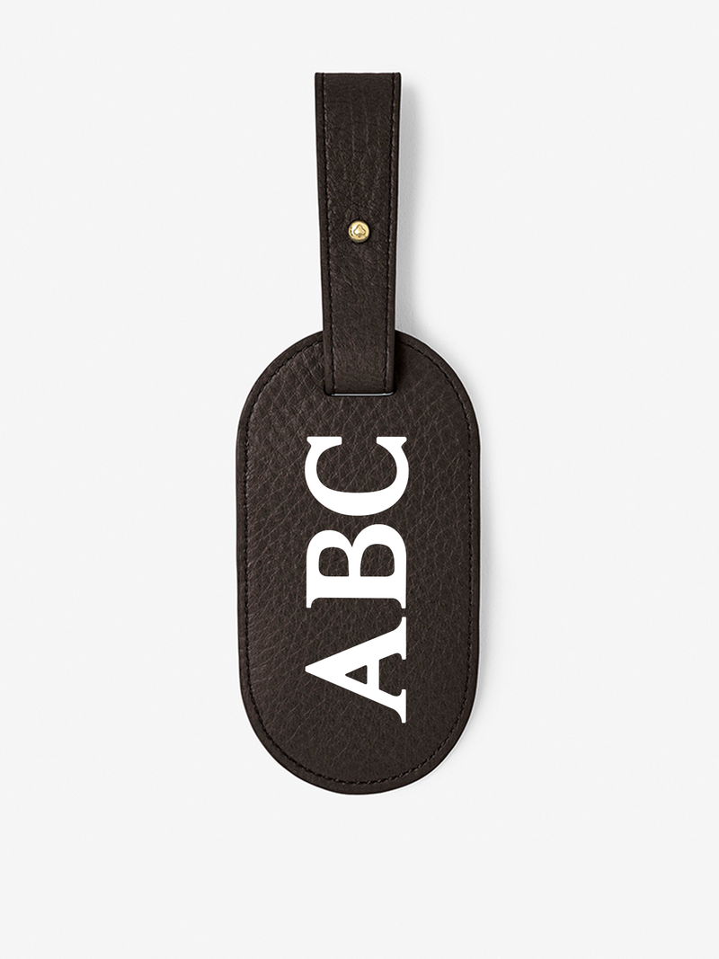 Custom Classic Leather Luggage Tag