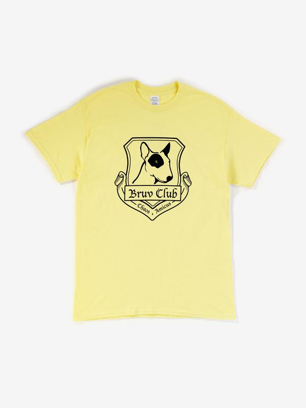 Bruv Club Short Sleeved T-Shirt Yellow