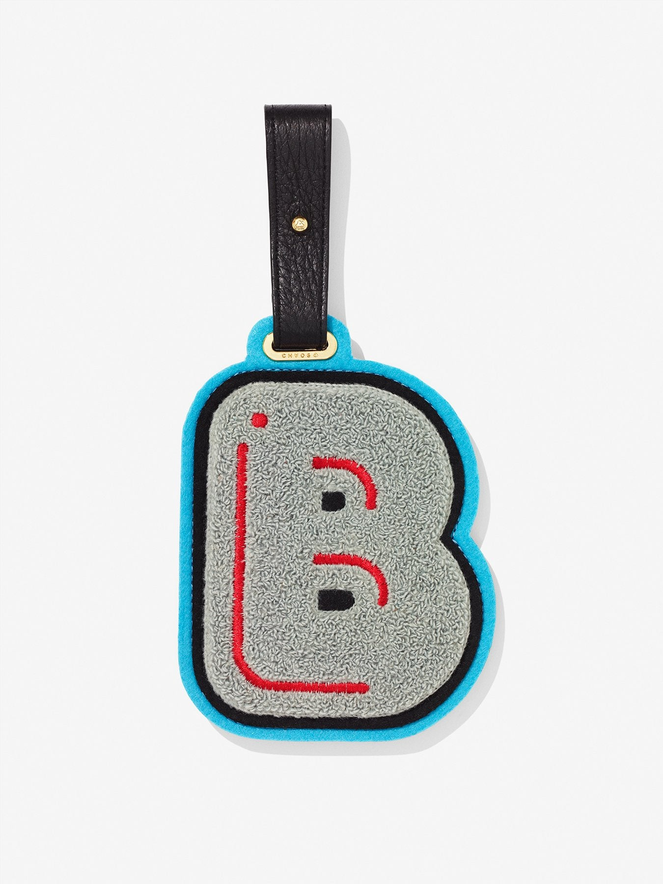 Chenille Alphabet Luggage Tag