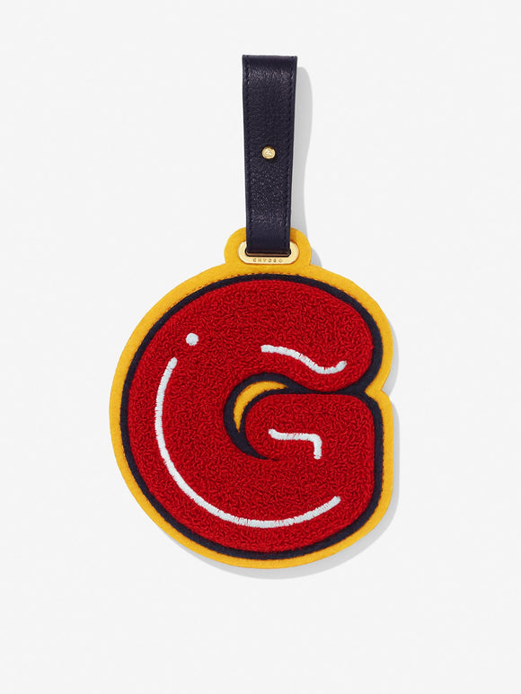 Chenille Letter G Bag & Luggage Teddy Tag
