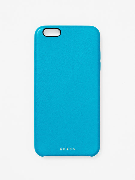 Plain Classic Leather iPhone Case Blue