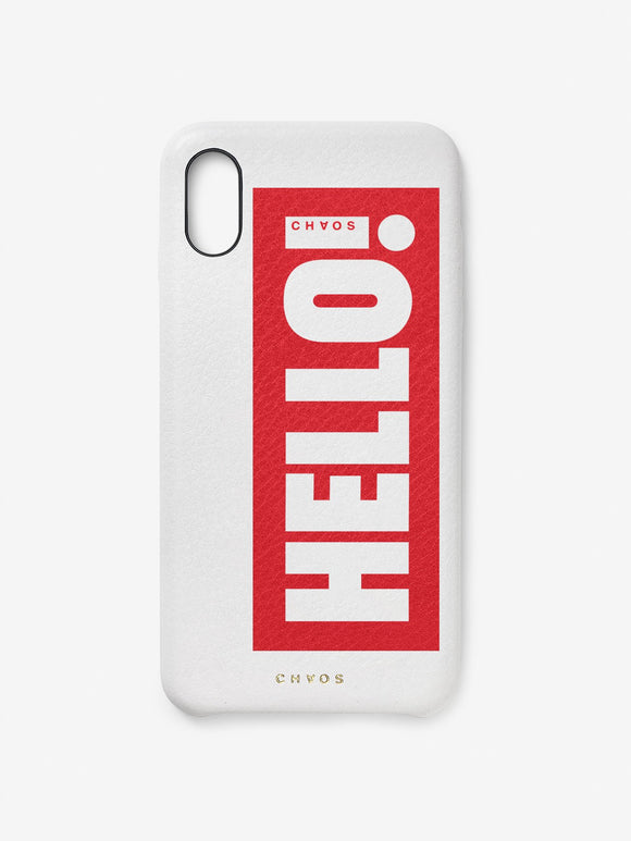 Chaos x Hello! Magazine Leather iPhone Case - Hello White