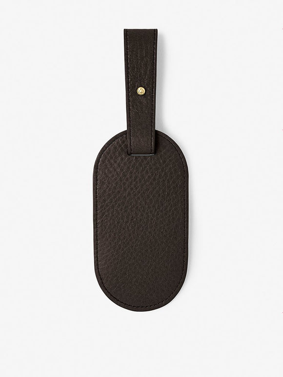Classic Leather Luggage Tag Black