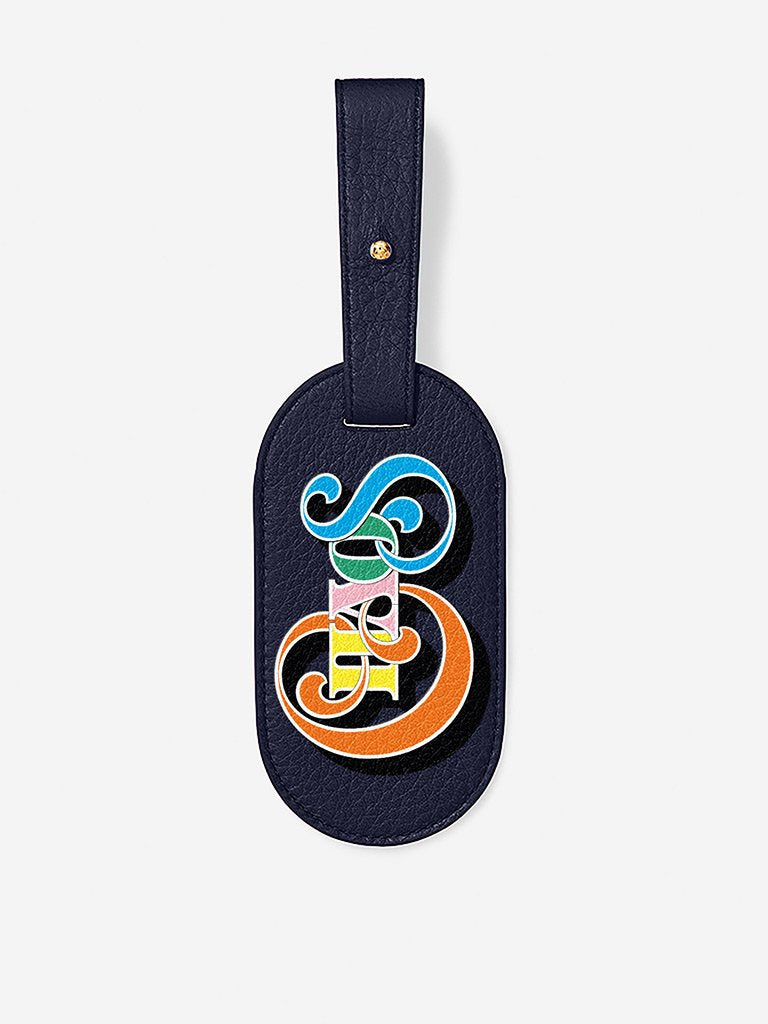 Chaos Classic Leather Luggage Tag