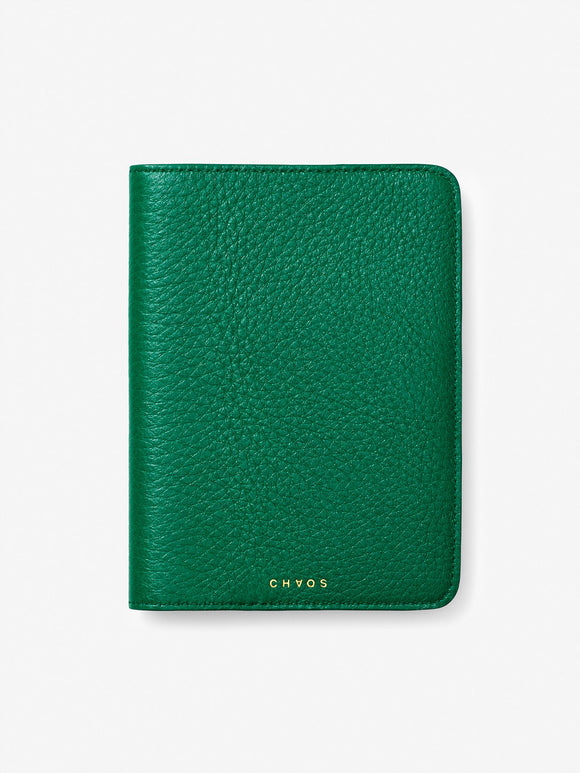 Classic Leather Passport Holder Green