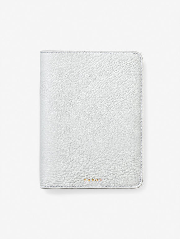 Classic Leather Passport Holder White