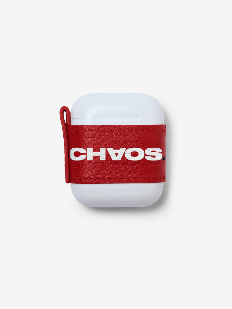Block CHAOS. Red AirPods Sticker