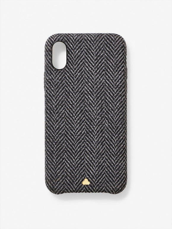 Superfine Wool Herringbone iPhone Case Grey