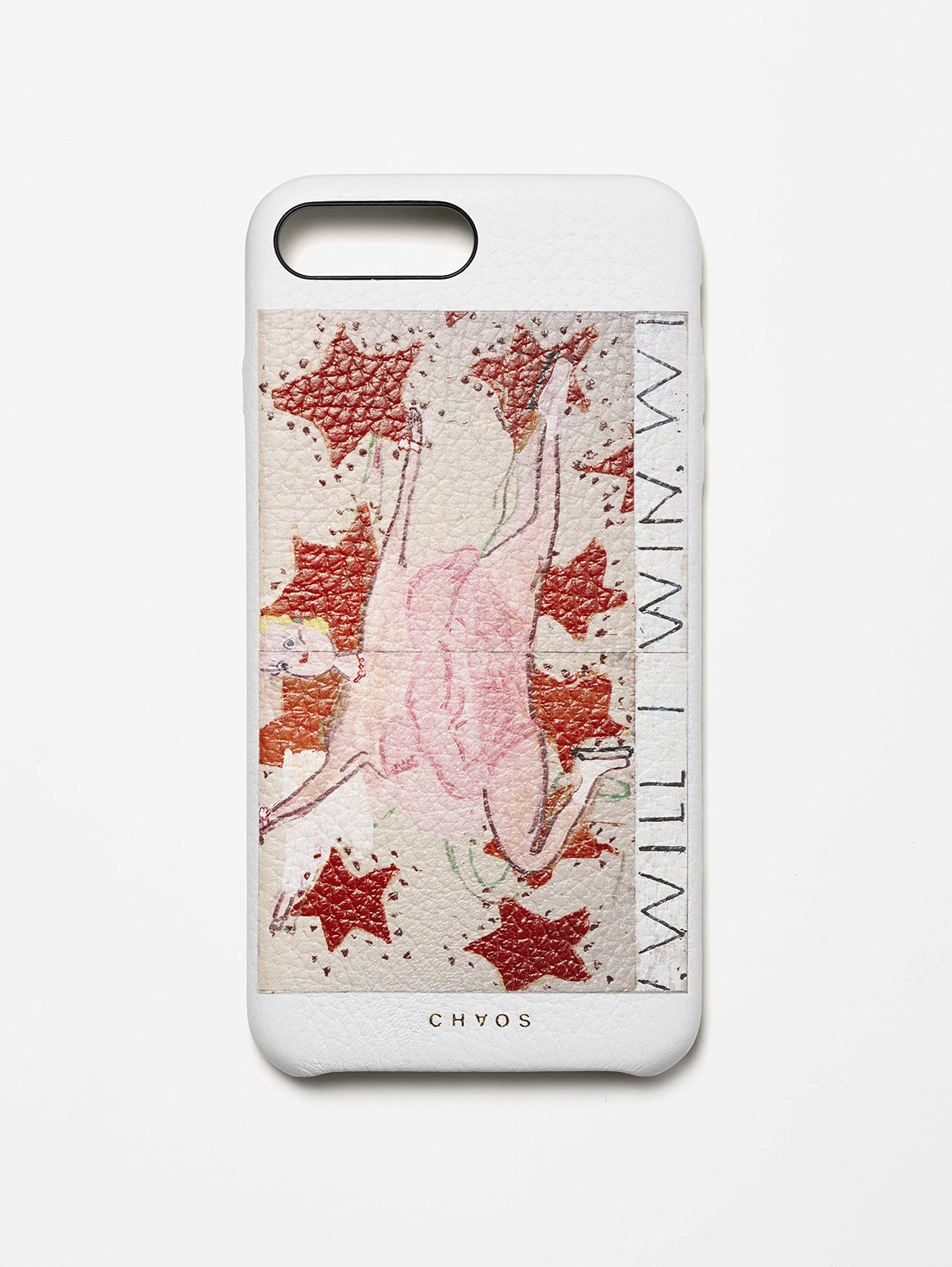 Chaos X Rose Wylie with The Serpentine Galleries Pink Skater Classic Leather iPhone Case