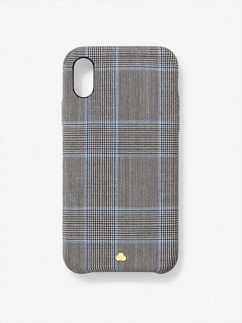 Wool Prince of Wales iPhone Case Grey