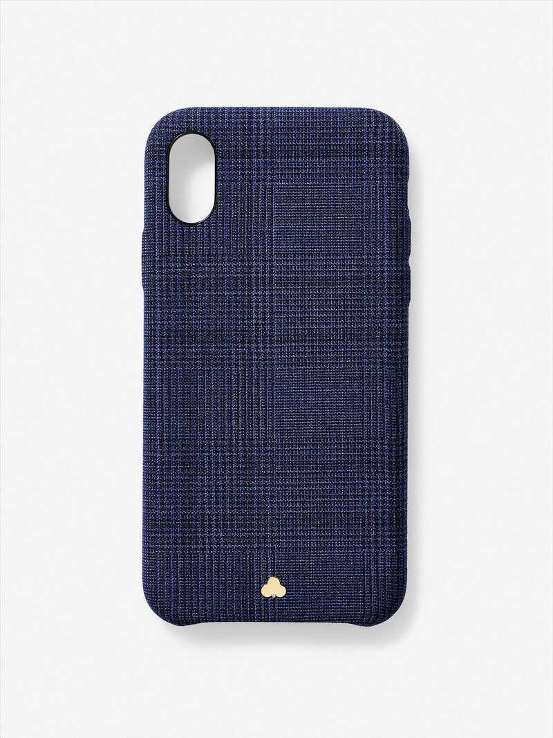 Wool Prince of Wales iPhone Case Navy