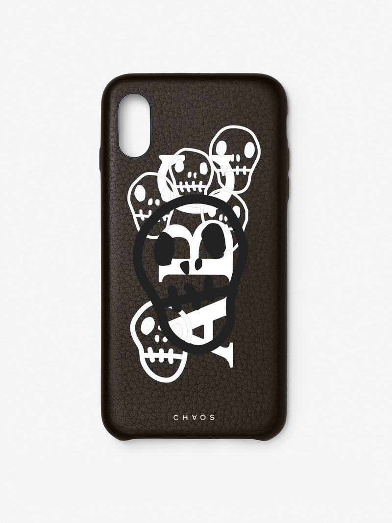 Chaos X Hayden Kays Custom Skulls Classic Leather iPhone Case