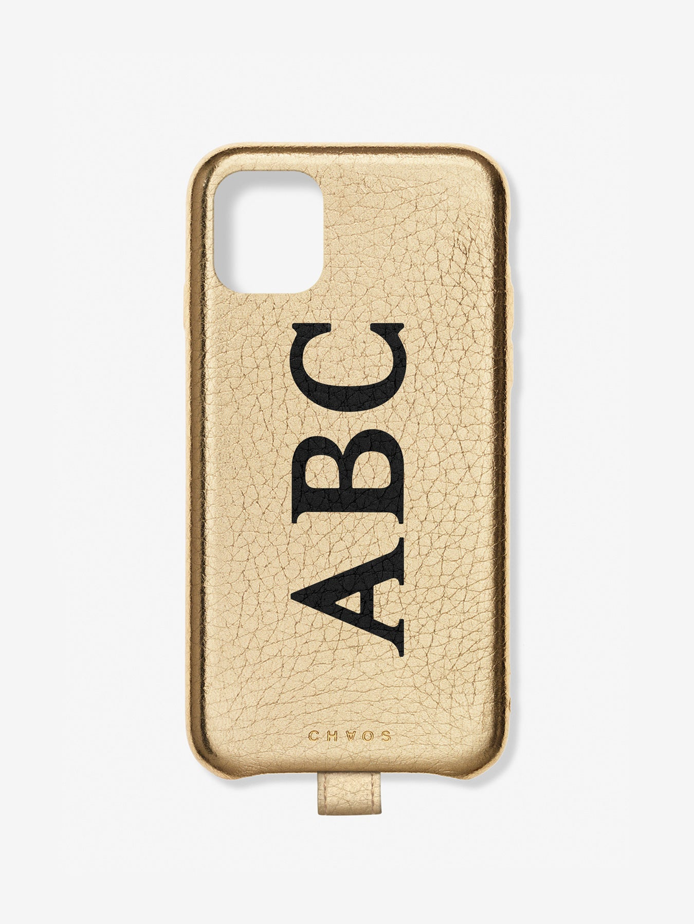 Classic Font Metallic Leather iPhone Case