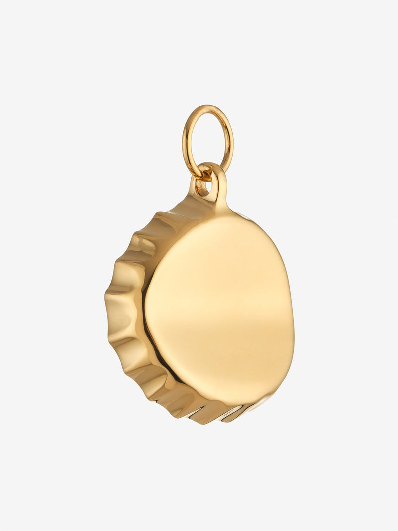 Gold Bottle Top Opener Charm