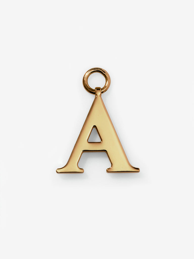 Gold Plated Alphabet Charm