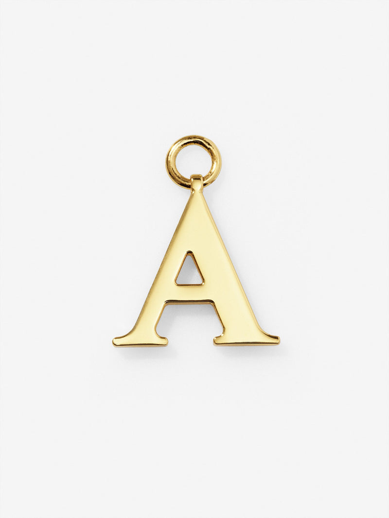 Gold Plated Letter A Charm