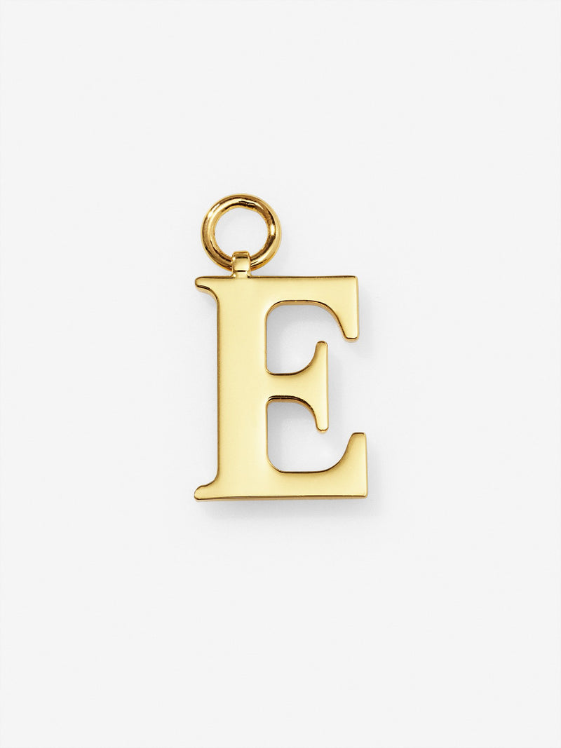 Gold Plated Letter E Charm