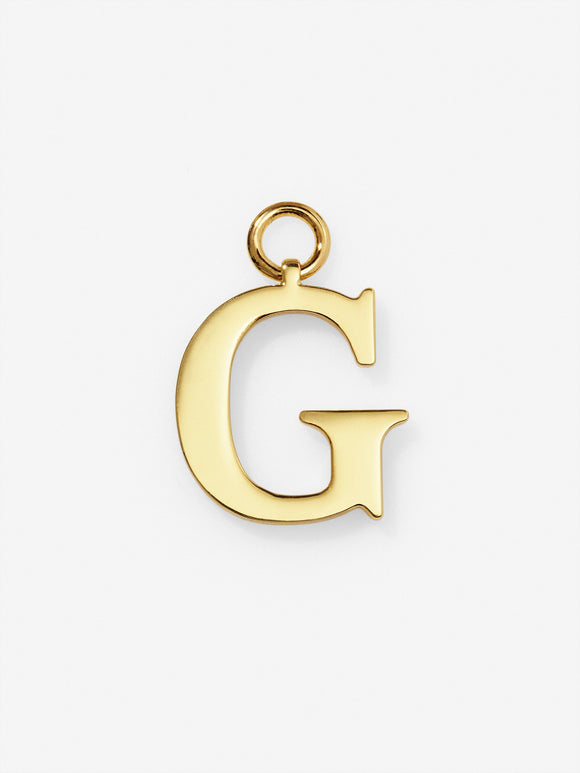 Gold Plated Letter G Charm