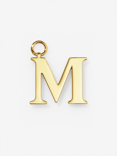 Gold Plated Letter M Charm