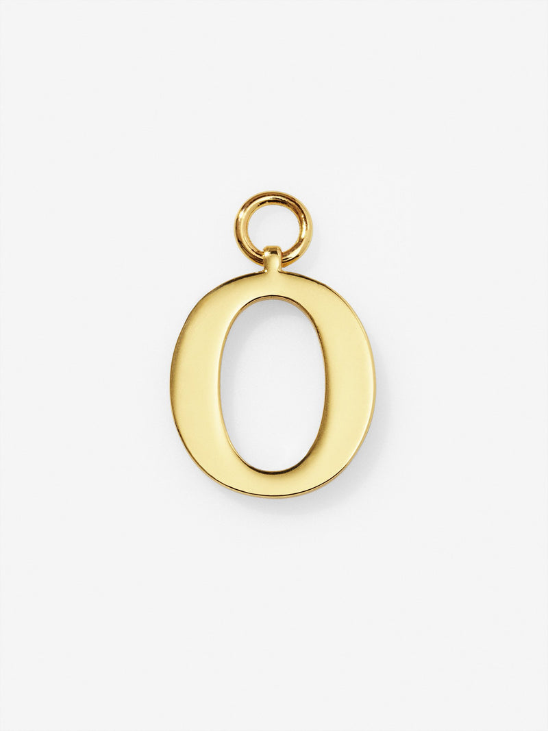 Gold Plated Letter O Charm