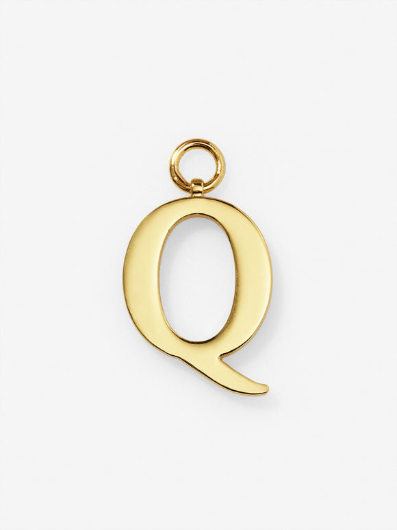 Gold Plated Letter Q Charm