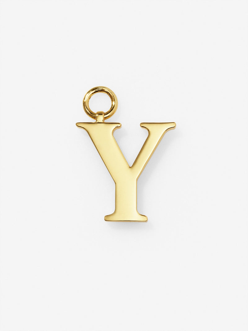 Gold Plated Letter Y Charm