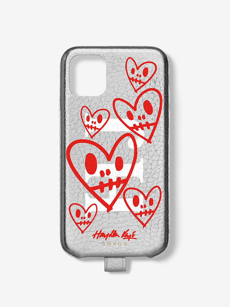 Hayden Kays 'Dead Beats' Leather Custom Metallic iPhone Case