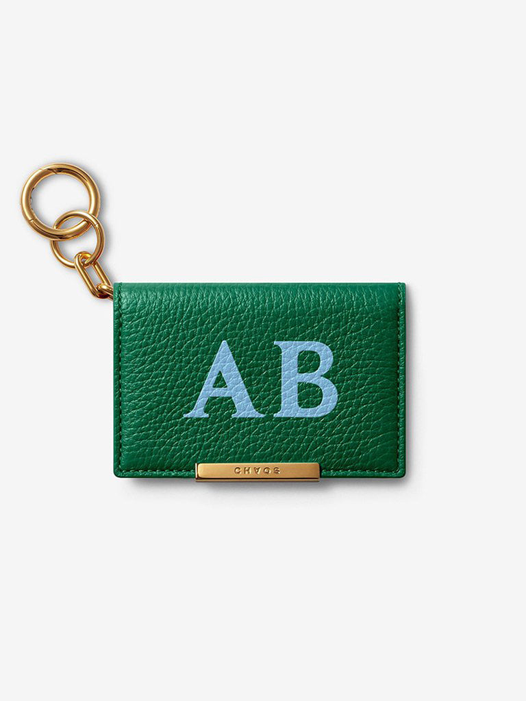 Classic Font Leather Card Holder